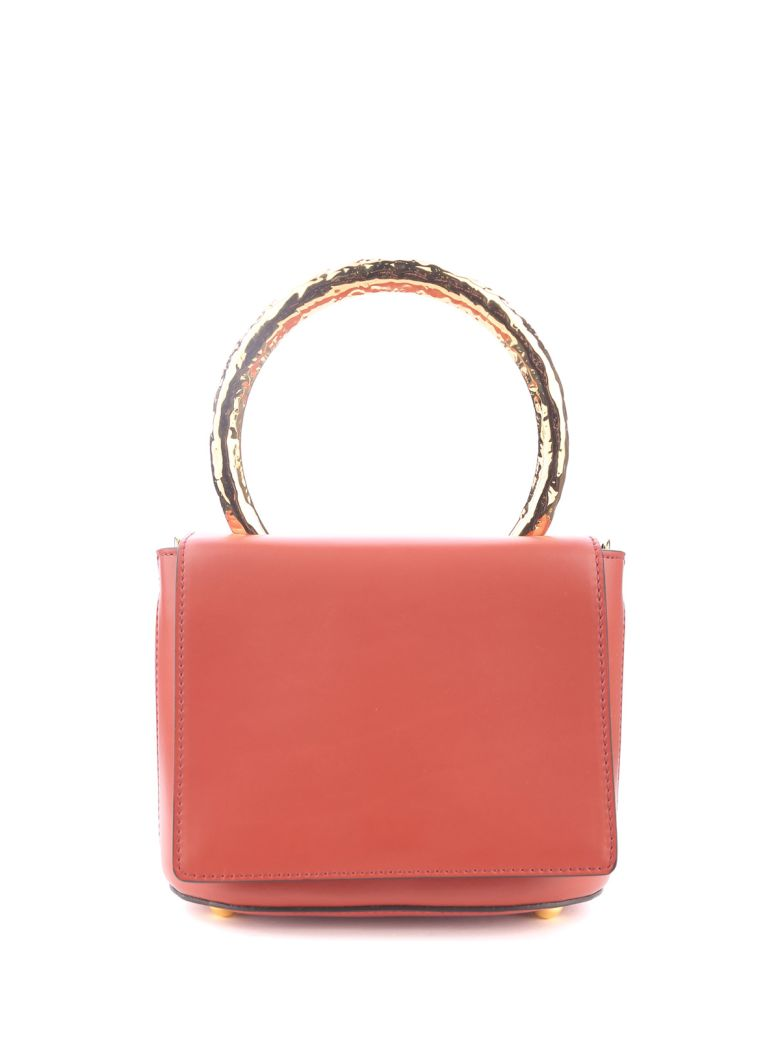 Marni Pannier Small Leather Shoulder Bag - Brown