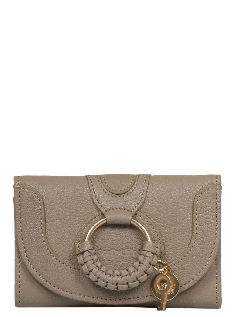 See by Chloé Hana Braided Continental Wallet - Motty Grey 23w