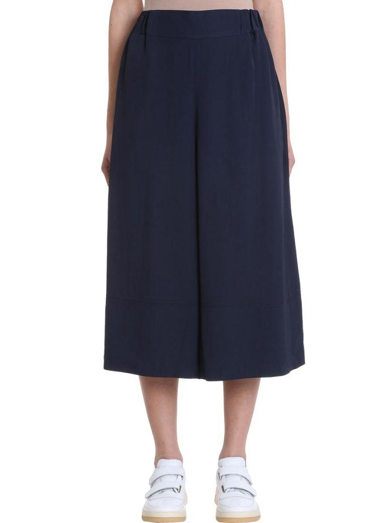 Acne Studios Polly Fluid Twill Blue Trousers - blue