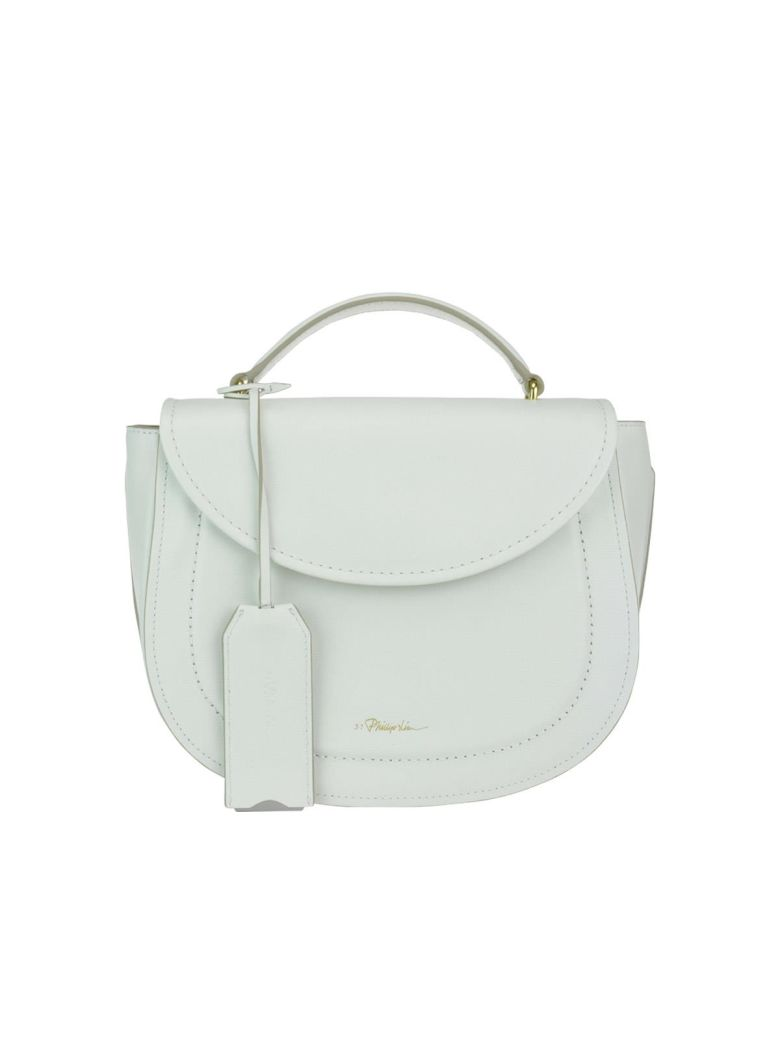 3.1 Phillip Lim Hudson Top Handle Saddle - Ant. white