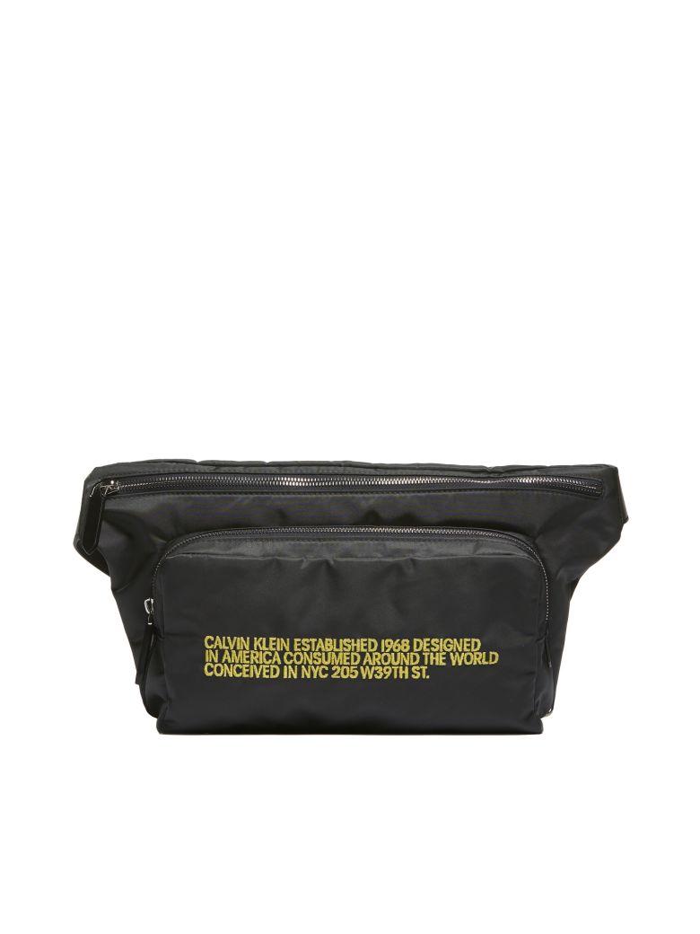 Calvin Klein Embroidered Belt Bag - Nero giallo