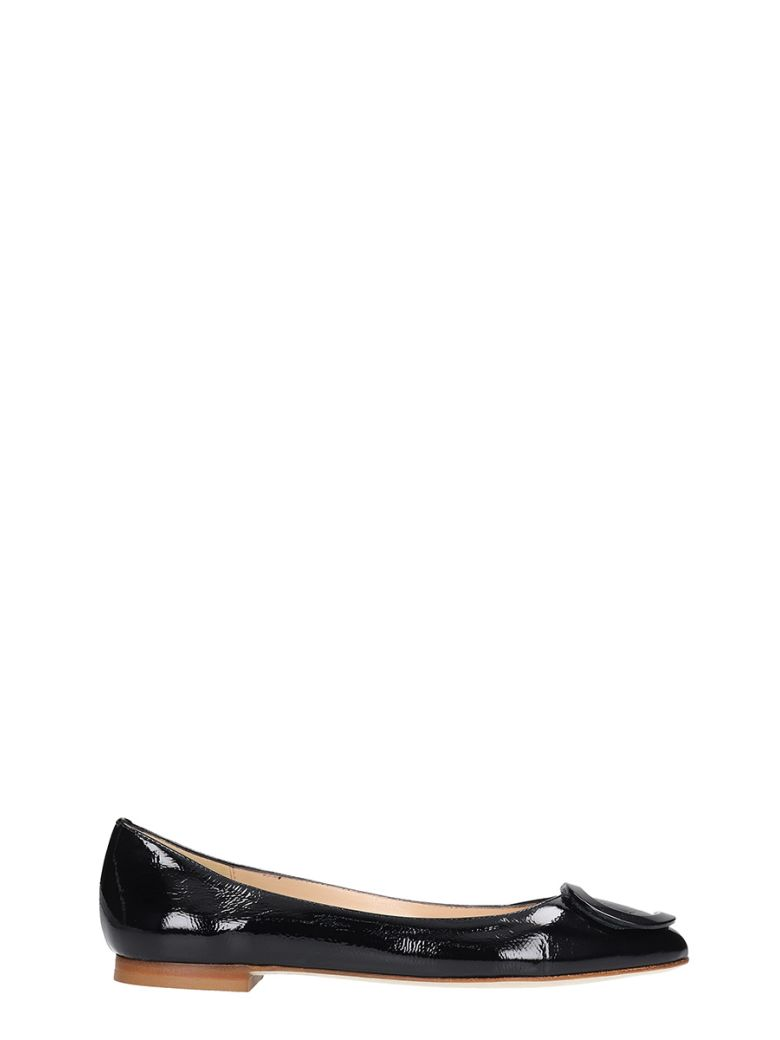 Fabio Rusconi Ballet Flats In Black Leather - black