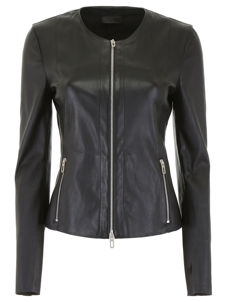 DROMe Stretch Nappa Jacket - BLACK (Black)