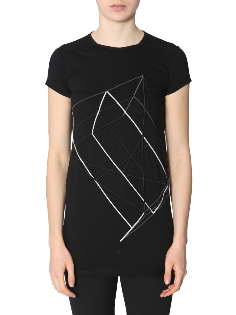 Rick Owens Embroidered T-shirt - NERO