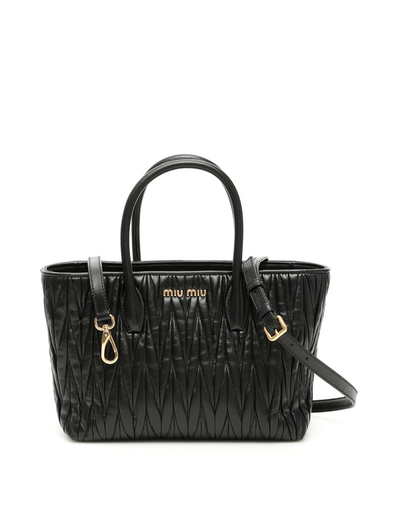 Miu Miu Matelasse Shopping Bag - NERO (Black)