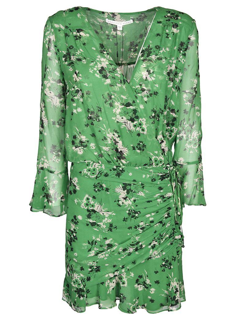 Veronica Beard Floral Print Wrap Dress - Green