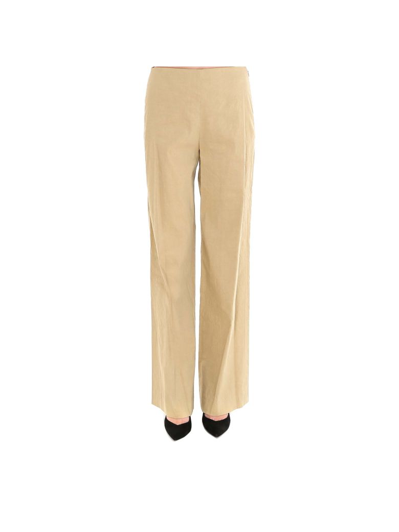 Theory Clean Wide Leg Pants - Beige