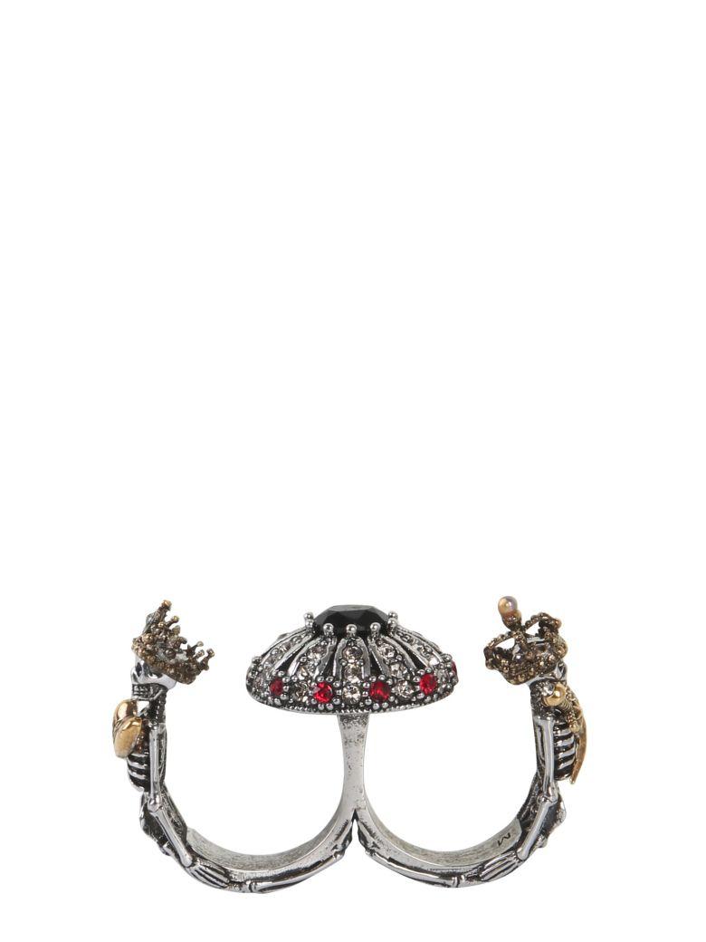 Alexander McQueen Double Skeleton Ring - MULTICOLOR