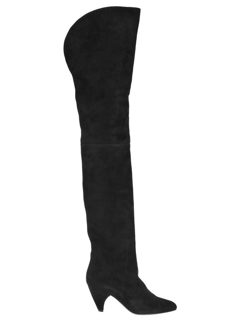 Laurence Dacade Over The Knee Tacco 7 - BLACK
