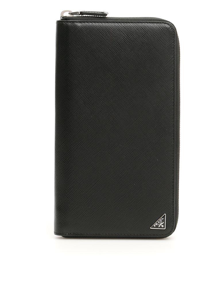 Prada Zip-around Wallet - NERO (Black)