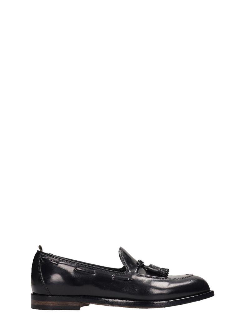 Officine Creative Black Leather Ivy Loafer - Black