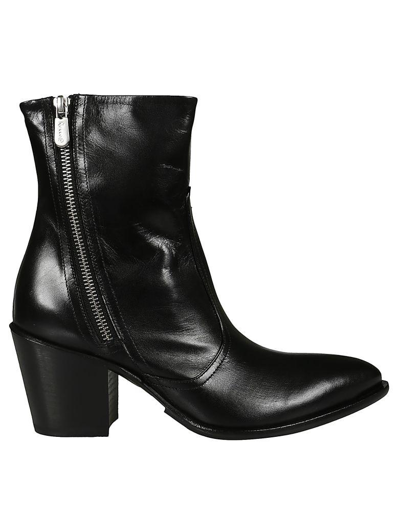 Rocco P. Zipped Boots - Black