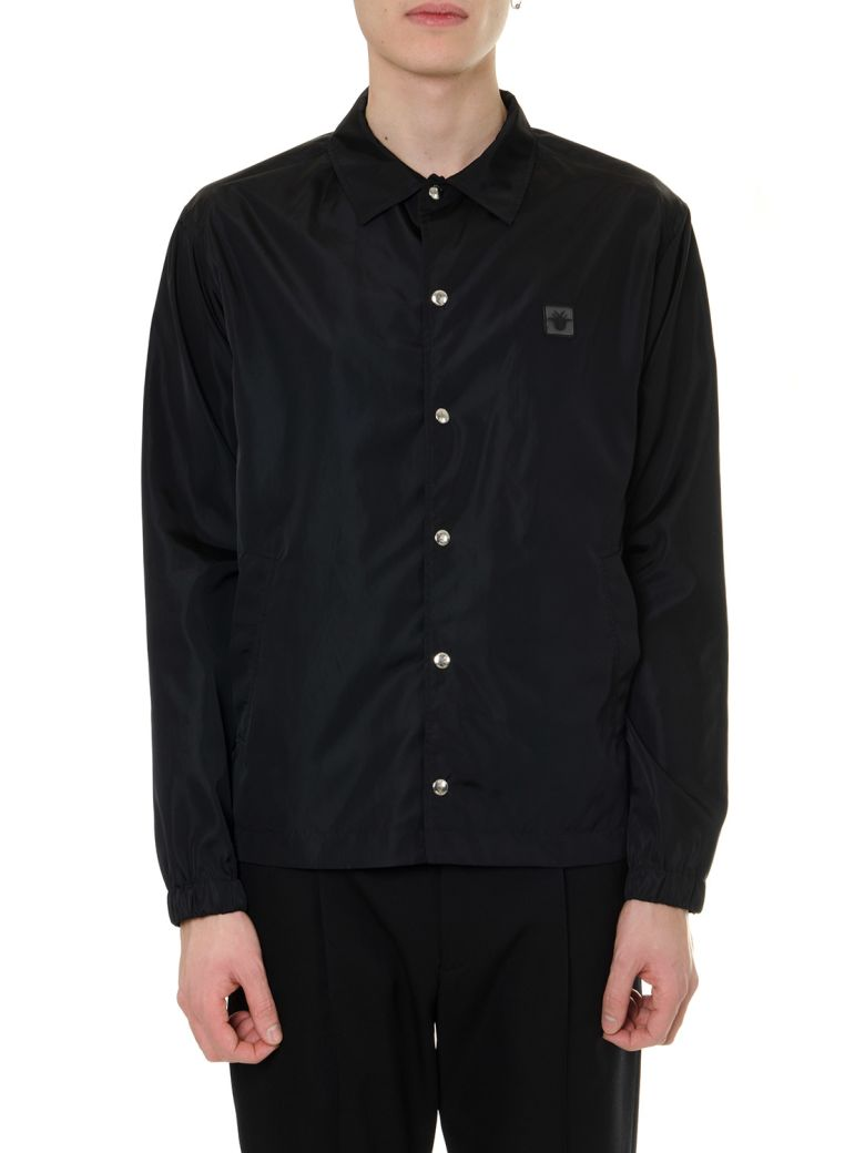 Dior Homme Blue Nylon Jacket With Bee - Blu