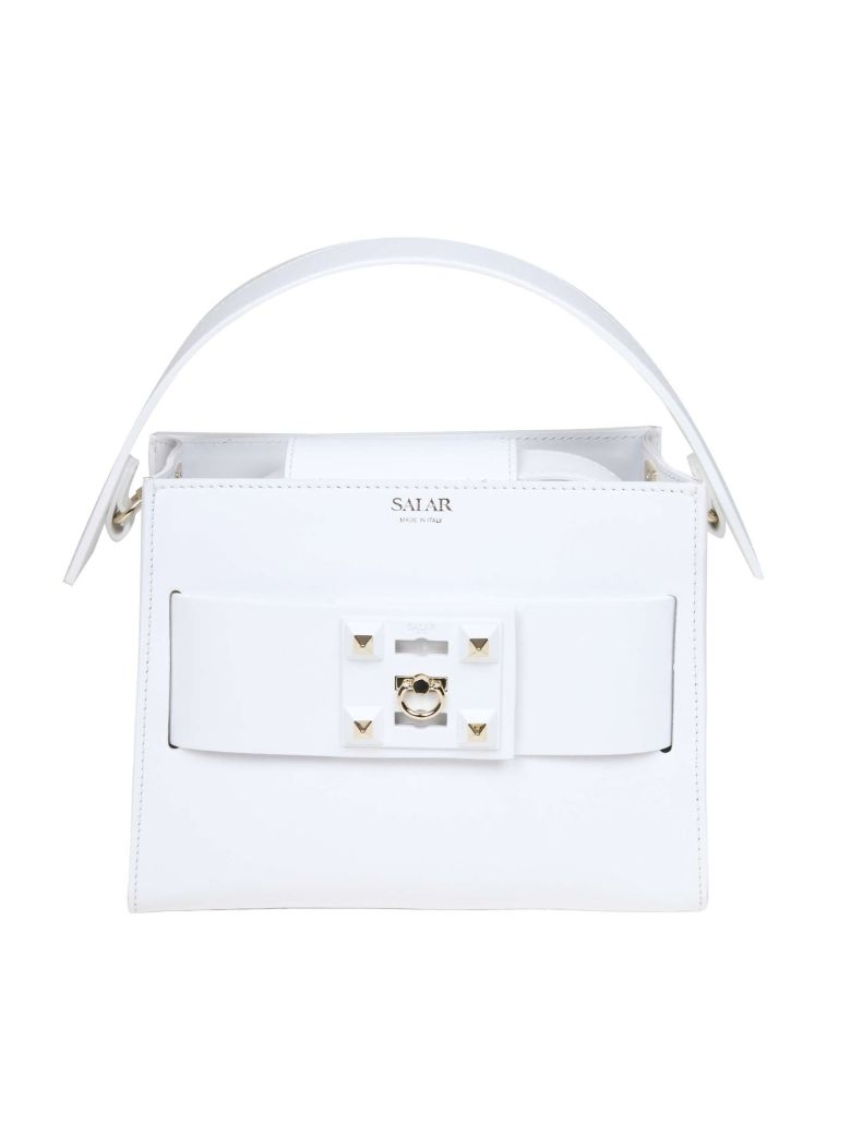 Salar Handbag Ludo In White Leather - White