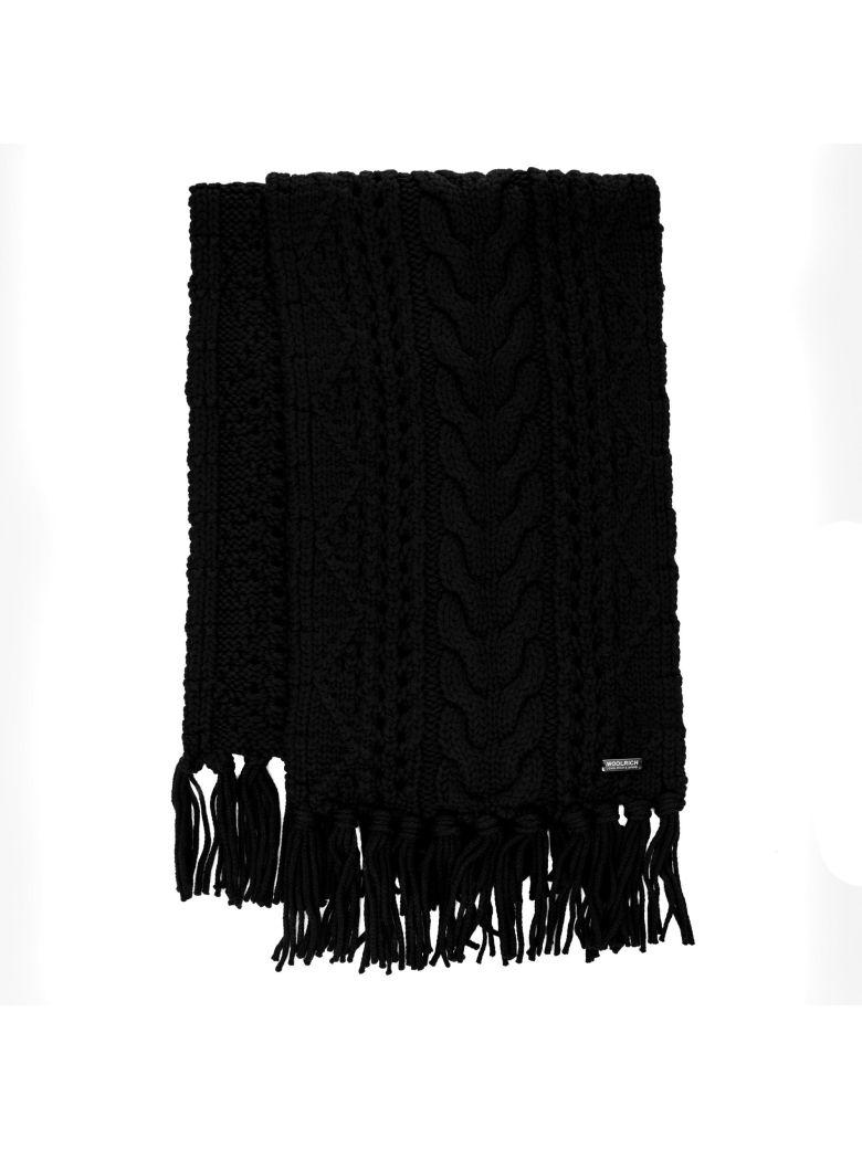 Woolrich Wool Scarf - BLACK