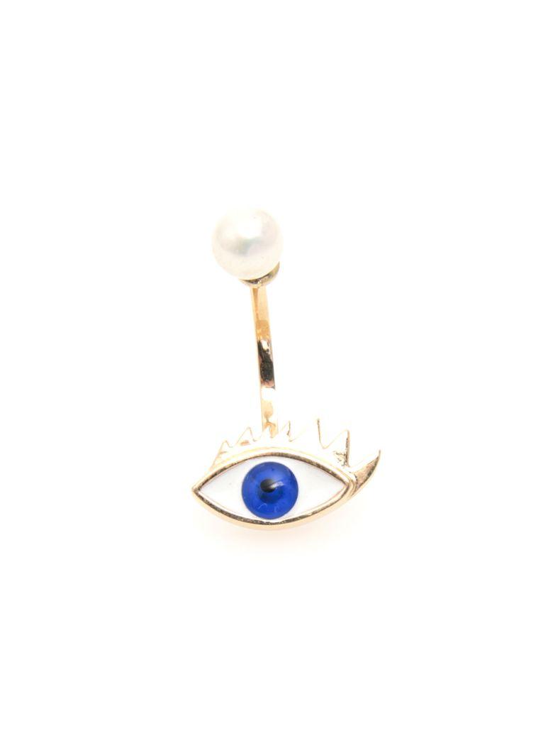 Delfina Delettrez Eye Earring 9kt Gold - BLUE|Blu