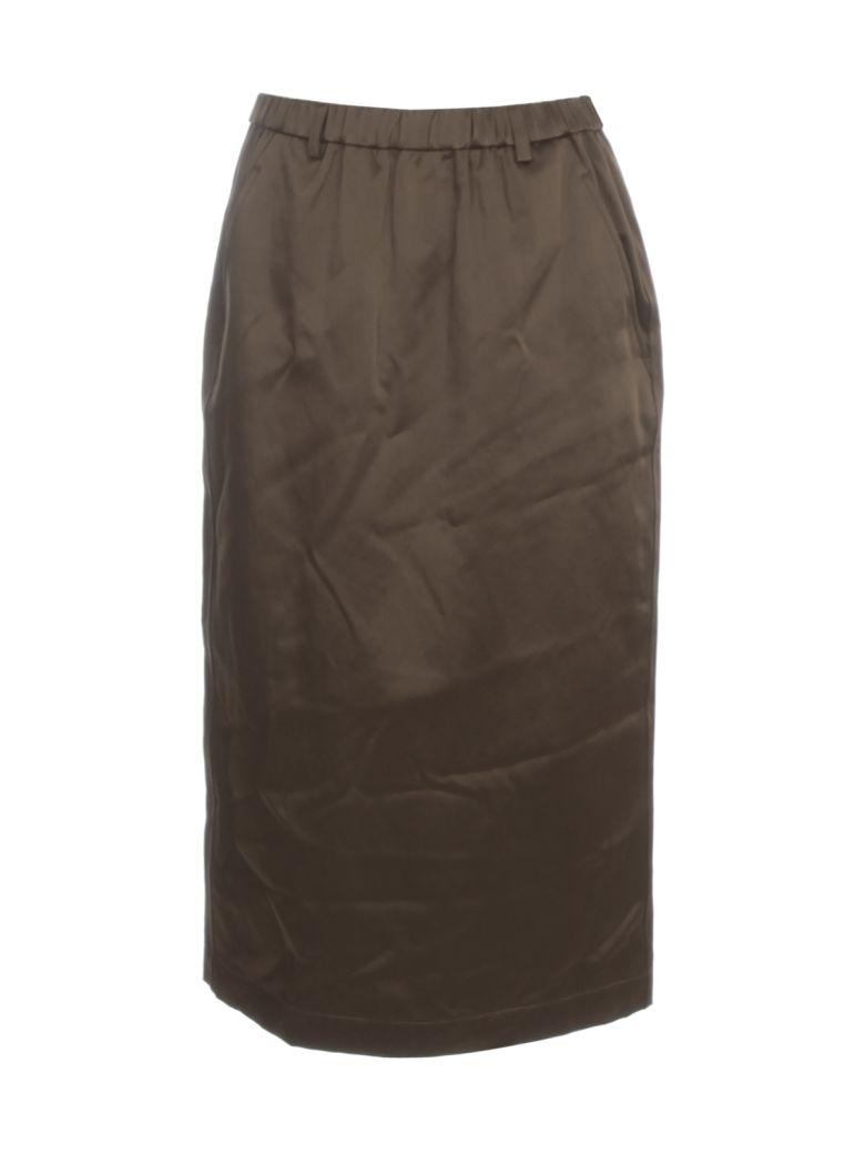 Aspesi Cotton Pencil Skirt Elastic Waist - Militare