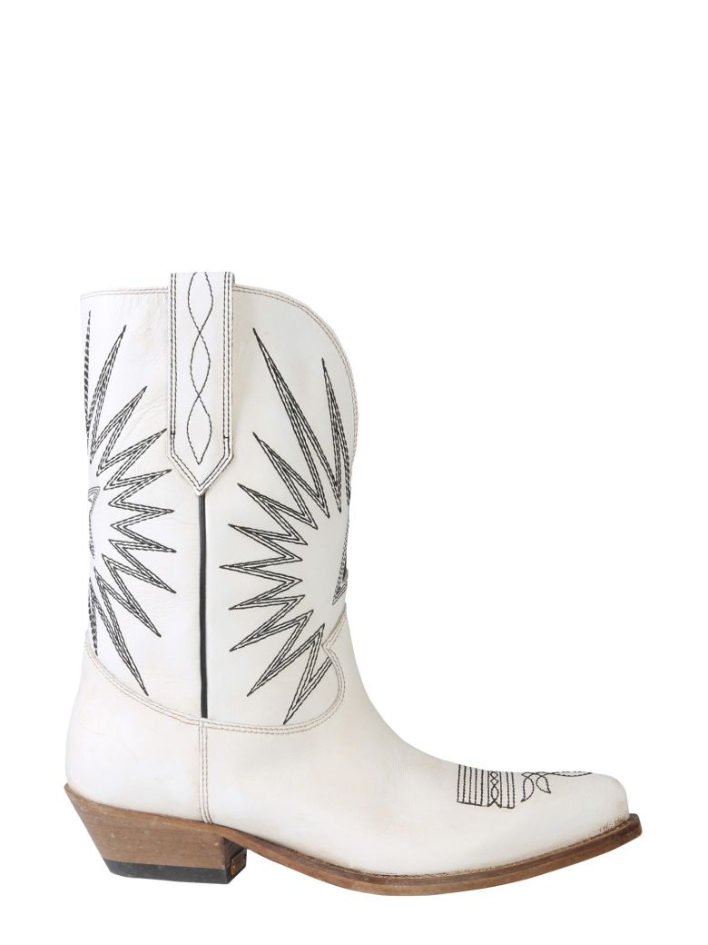 Golden Goose Wish Star Low Boots - BIANCO