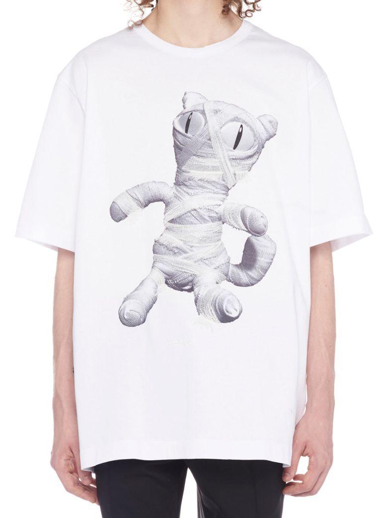 Juun.J 'mummy Cat' T-shirt - White