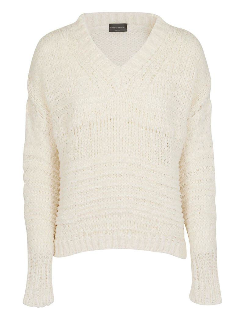 Roberto Collina Knitted Sweater - Beige