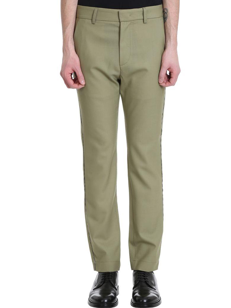 Maison Flaneur Green Wool Pants - green