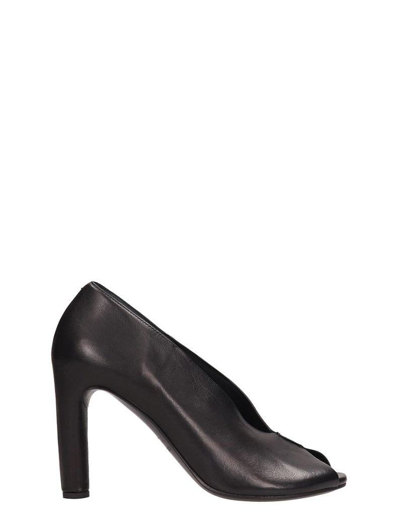Roberto del Carlo Black Leather Decollet? - black