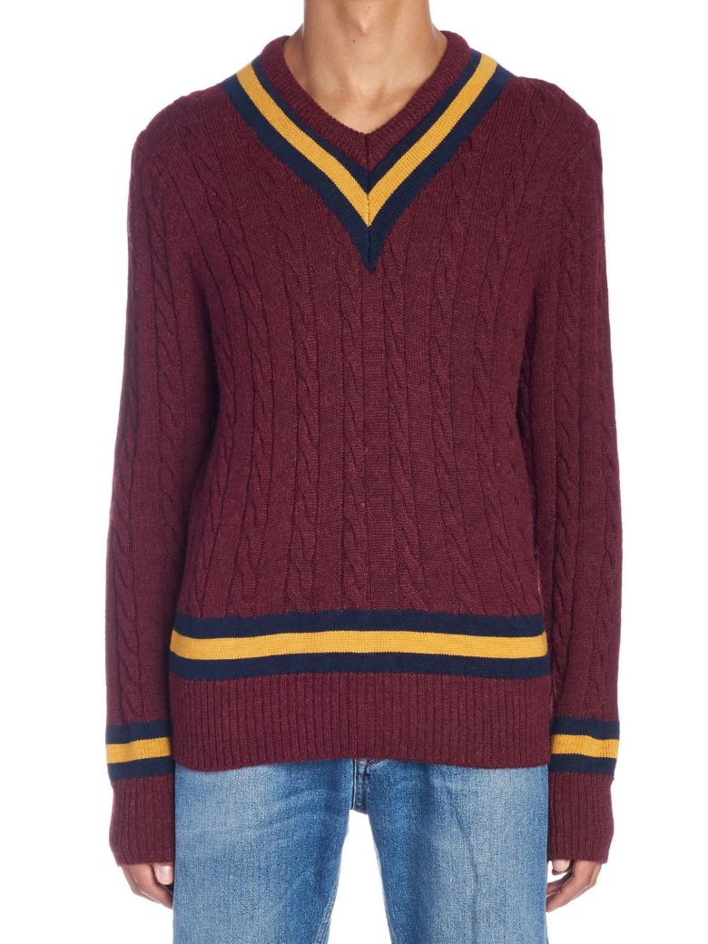 Kent & Curwen 'college' Sweater - Burgundy