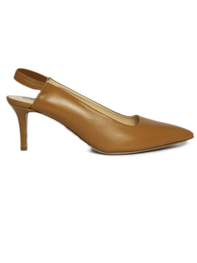 Fabio Rusconi Pump In Brown Leather - Marrone