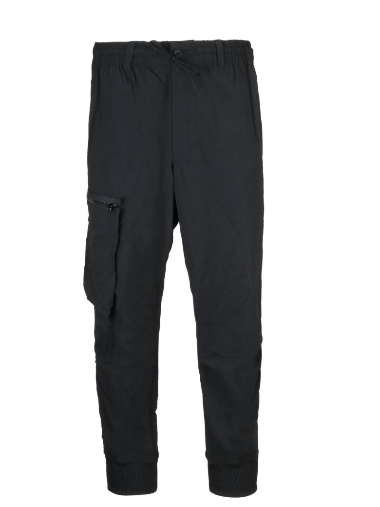 Y-3 Cropped Trousers - Black