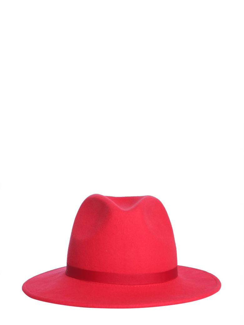 PS by Paul Smith Fedora Lined Hat - ROSSO