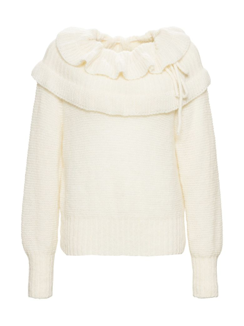 Philosophy di Lorenzo Serafini Sweater With Ruffles - White