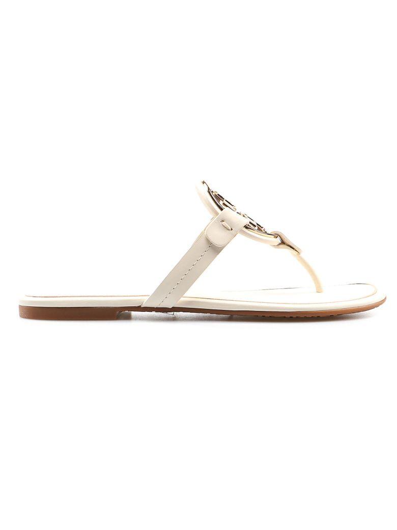 Tory Burch Miller Flat Sandals - Bleach/gold