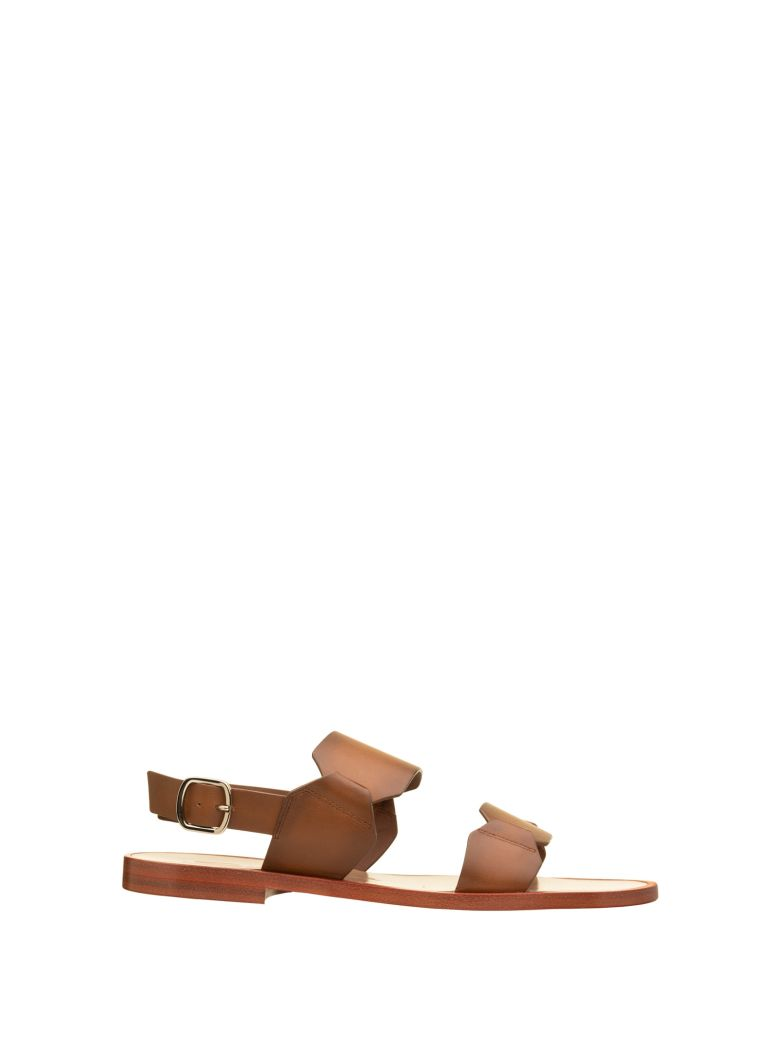 Santoni Santoni Brown Sandals - CUOIO