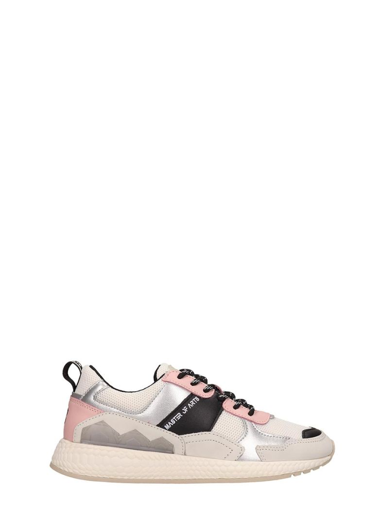M.O.A. master of arts Grey And Pink Running Sneakers - grey