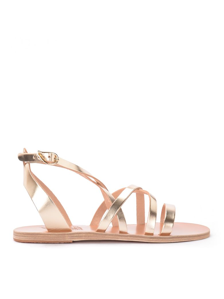 Ancient Greek Sandals Delia Leather Thong Sandal - PLATINO