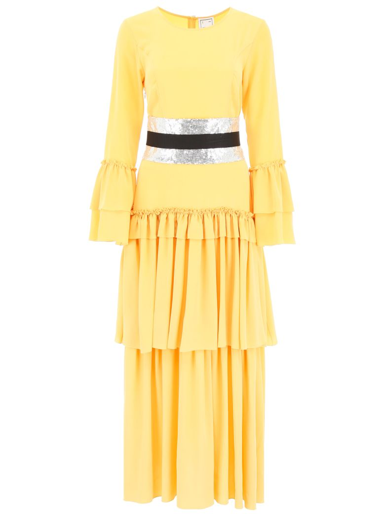In The Mood For Love Long Belted Dress - BANANA (Yellow)