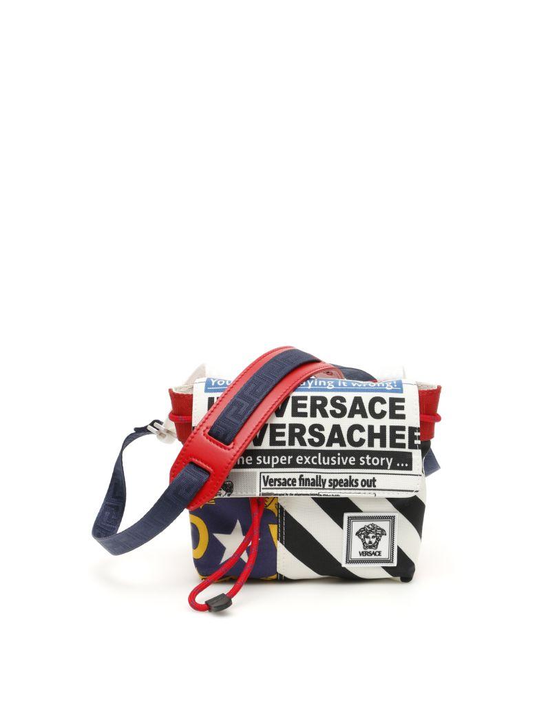 Versace Printed Messenger Bag - MULTI NERO PALLADIO|Bianco