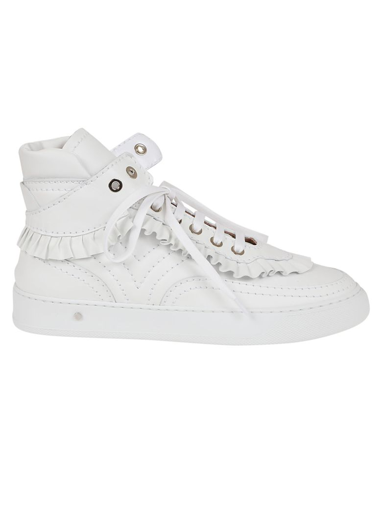 Laurence Dacade Frill Trim Sneakers - White