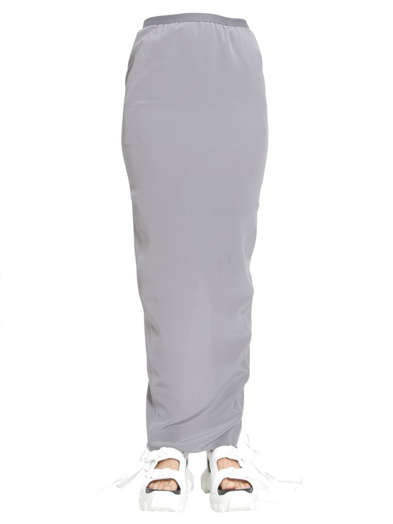 Rick Owens Pull On Pillar Skirt - GRIGIO