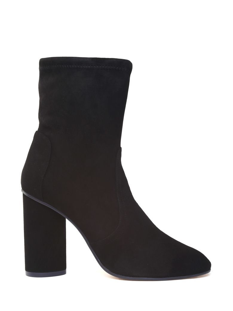 Stuart Weitzman Margot 95 Stretch-suede Sock Boots - Nero