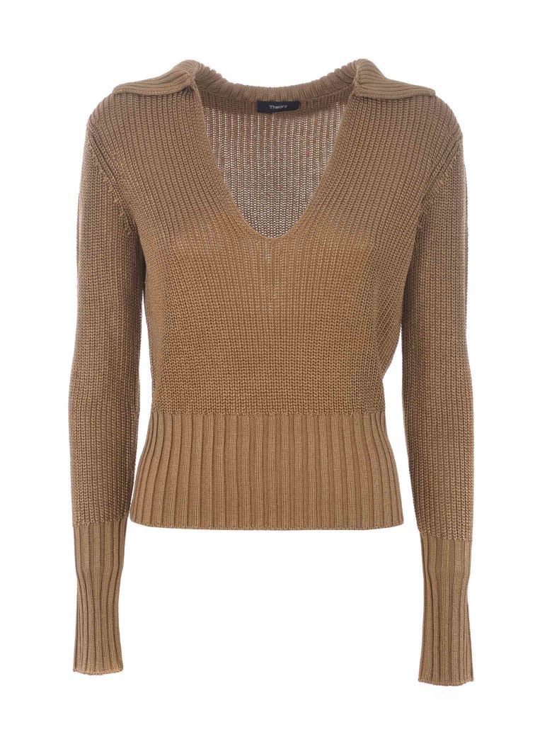 Theory Knitted Jumper - Cammello