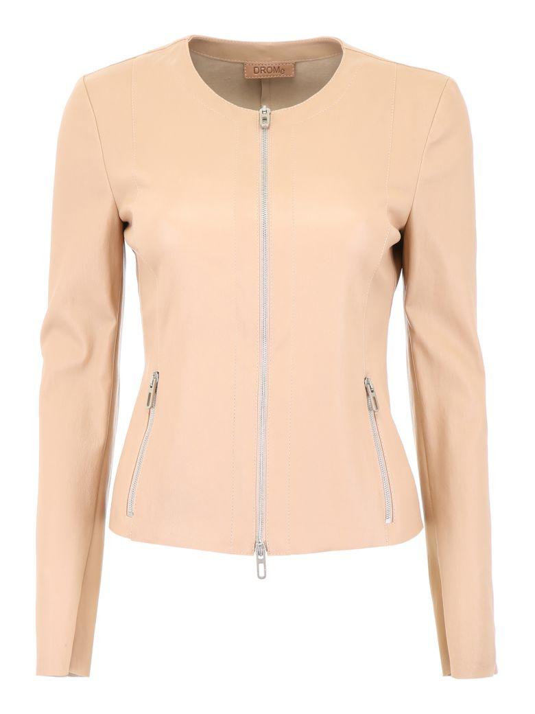 DROMe Stretch Nappa Jacket - RIMMEL (Pink)