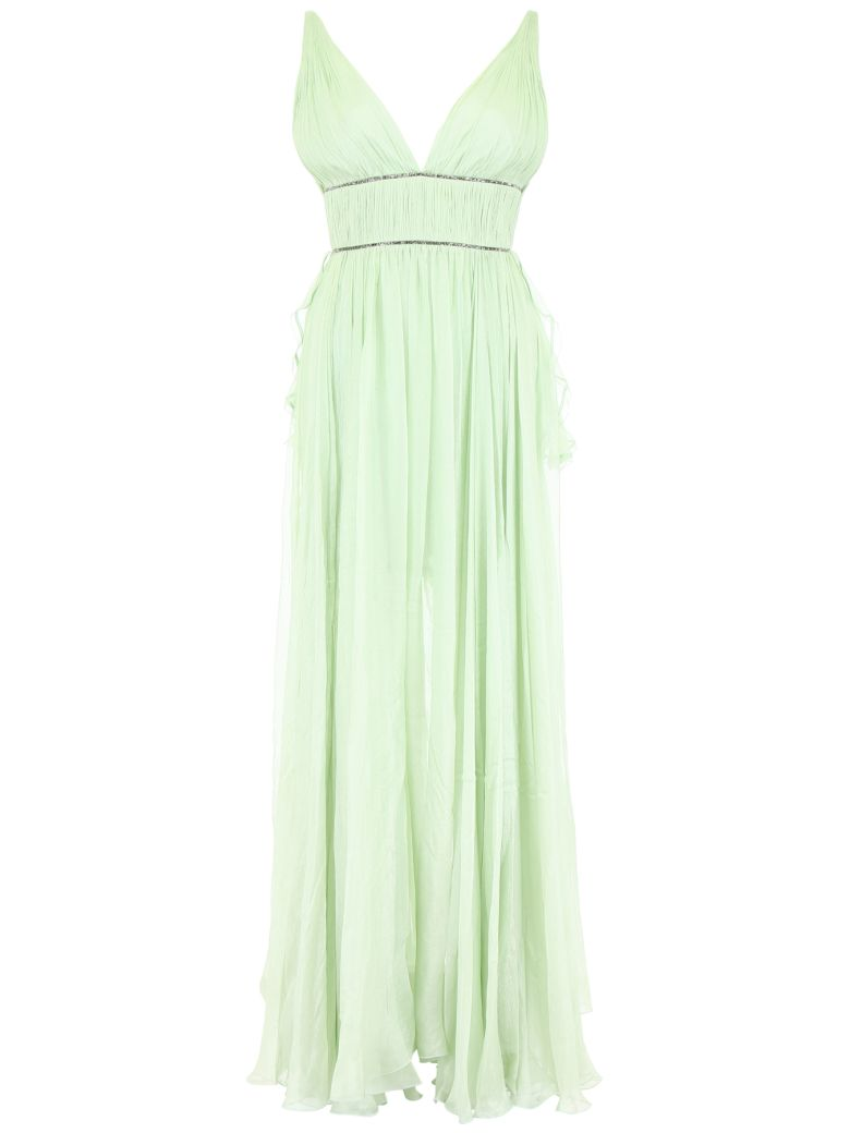 Maria Lucia Hohan Sage Silk And Crystal Dress - GREEN OPAL (Green)