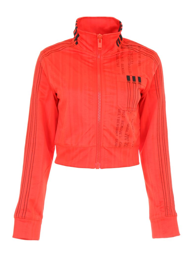 Adidas Originals by Alexander Wang Cropped Track Jacket - CORRED BLACK (Red)