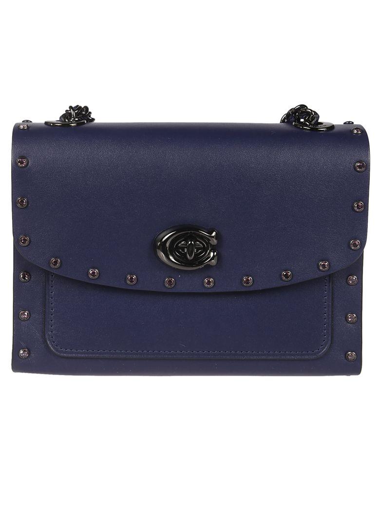 Coach Parker 18 Shoulder Bag - blue