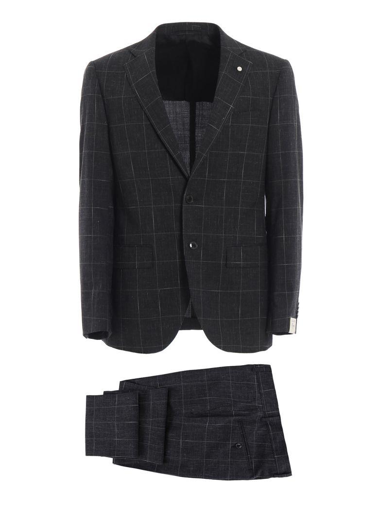 Luigi Bianchi Mantova Check Suit - Antracite