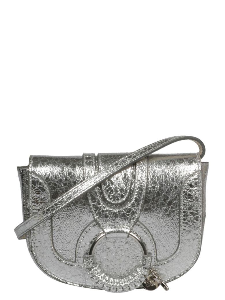 See by Chloé Hana Mini Metallic Shoulder Bag - Silver 9dl