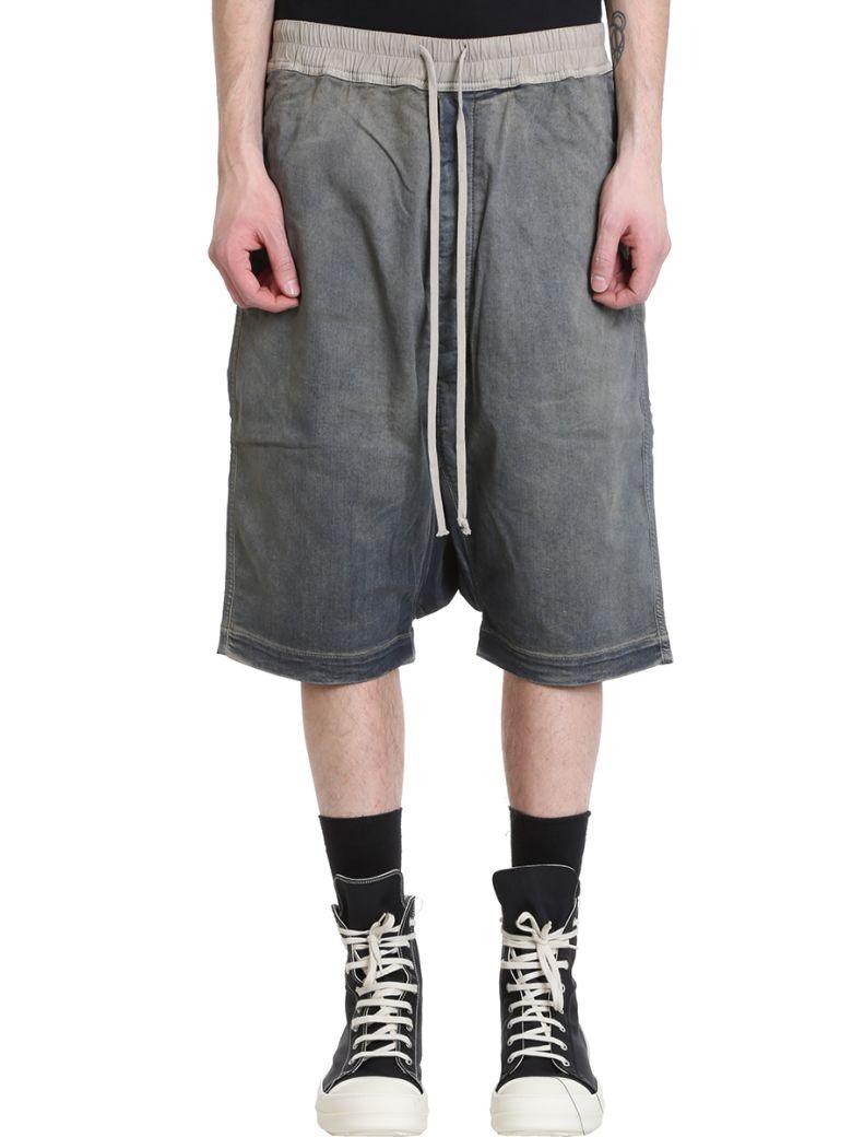 DRKSHDW Blue Denim Shorts - blue