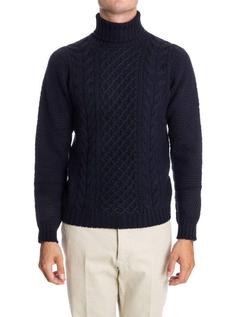 Drumohr Turtleneck Wool - Blue