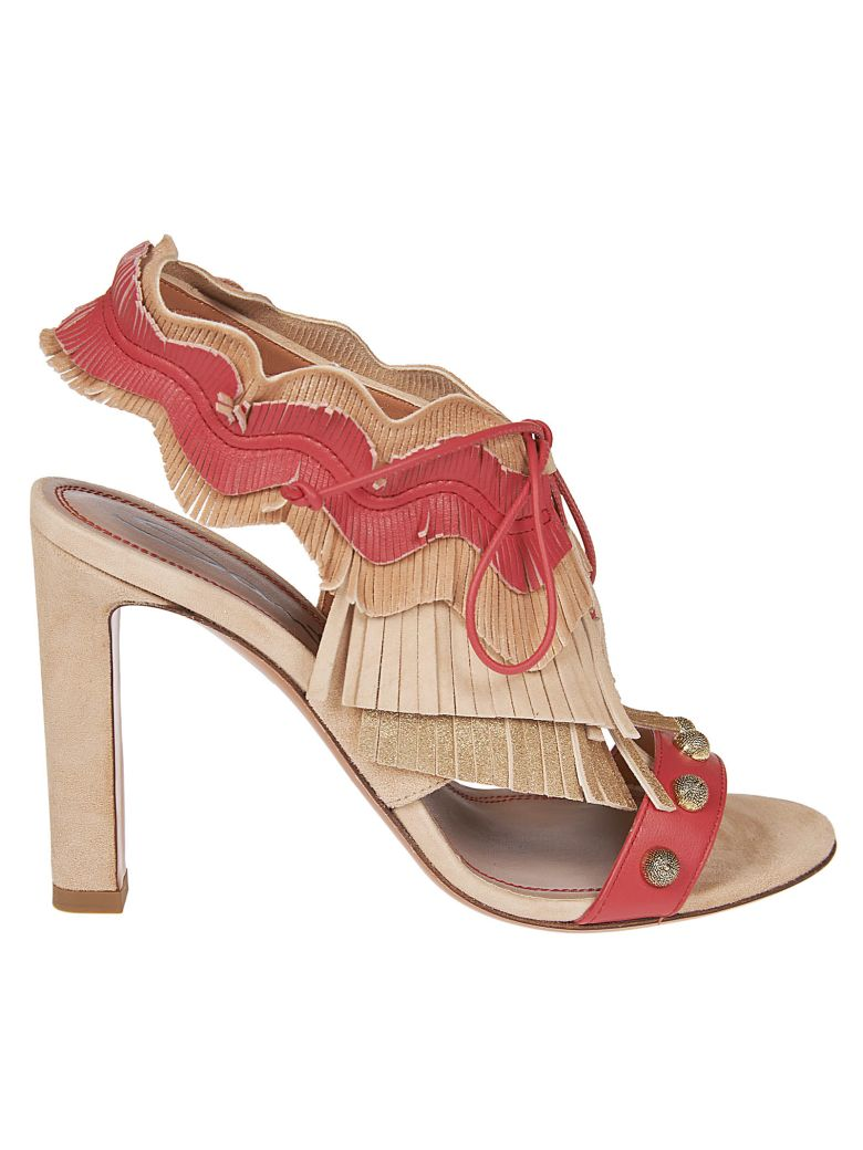 Santoni Tassel Front Sandals - Beige